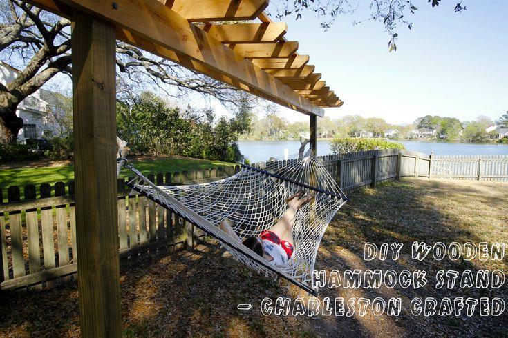 DIY Wooden Hammock Stand Pergola - Charleston Crafted