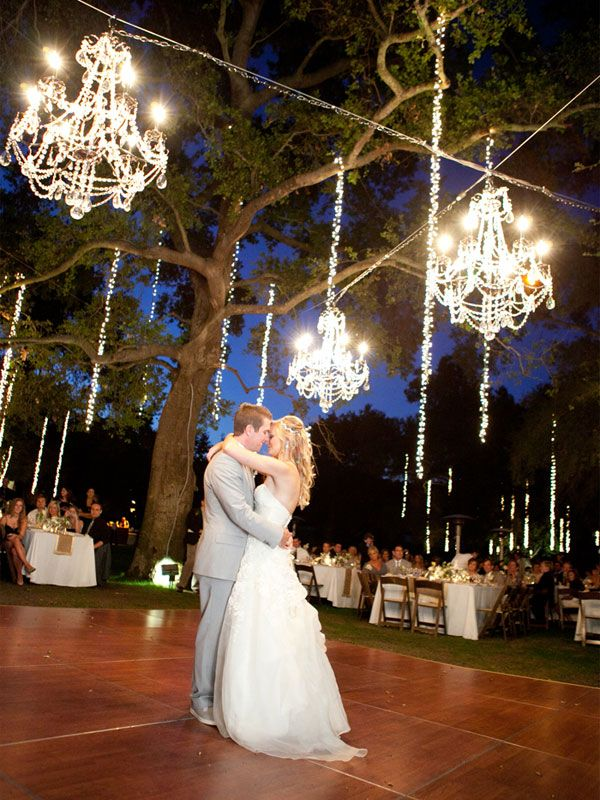 Wedding Ambiance Cool Lighting Inspiration That Will Leave You Glowing Chandelier Decorwedding Weddingsoutdoor