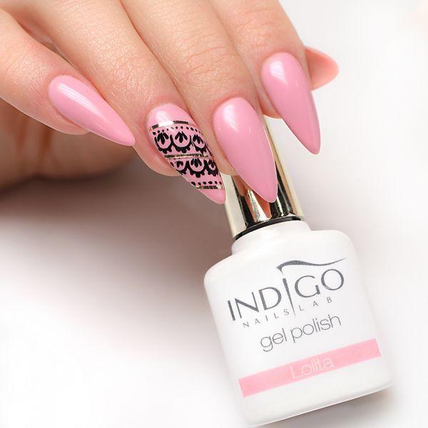 Gel Polish Lolita by Paulina Walaszczyk Indigo Educator Łódź: :) Follow us on Pinterest right now! #indigo #pink #think #pastel #manicure #gelpolish