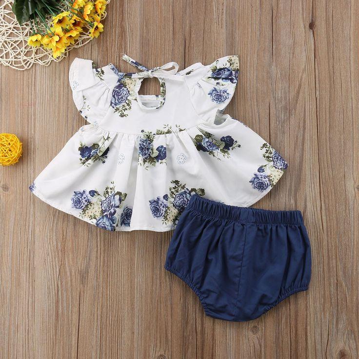 Click Y Cómpralo: Kompritas.com – MUQGEW recién nacido ropa de bebé niña 2019 Floral vestido de camiseta Tops pantalones cortos traje de ropa de 2 piezas conjunto de ropa infantil ropa bebe