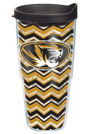 Missouri Tigers 24oz Chevron Tumbler