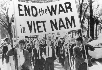 Anti-war protesting started in March of 1965 at the University of Michigan. This shows that many young people, often the people that were drafted, were beginning to disagree with the Vietnam war. Many Americans saw images on television of wounded soldiers and other horrible scenes that moved them to rethink their support of the war. I chose this image because it shows that many Americans did protest the war, once they began to question whether they really needed to contain communism or not.