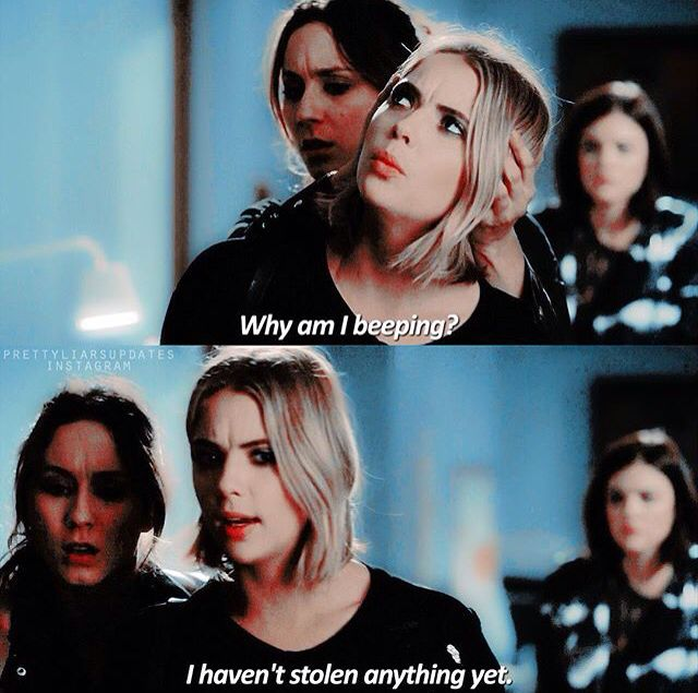 Why am I beeping? I haven't stolen anything yet | Hanna Marin