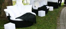 Lounge-Mietmöbel   Rattan-Loungemöbel für den Outdoor-Einsatz