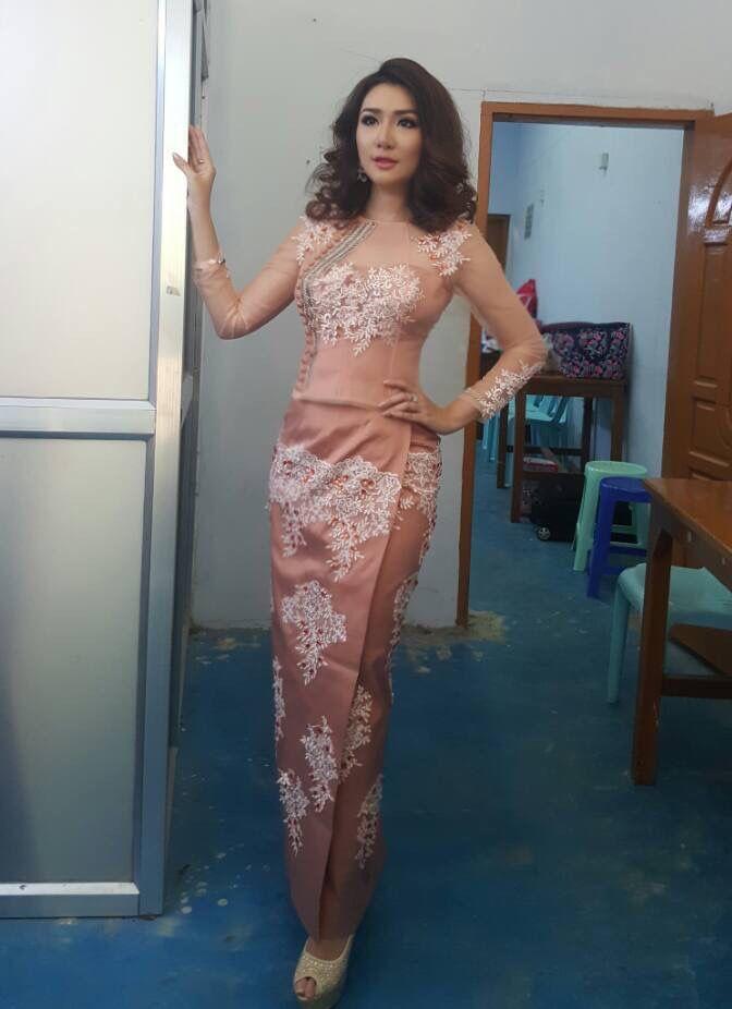 Myanmar Dress - Bhurmese skirt style
