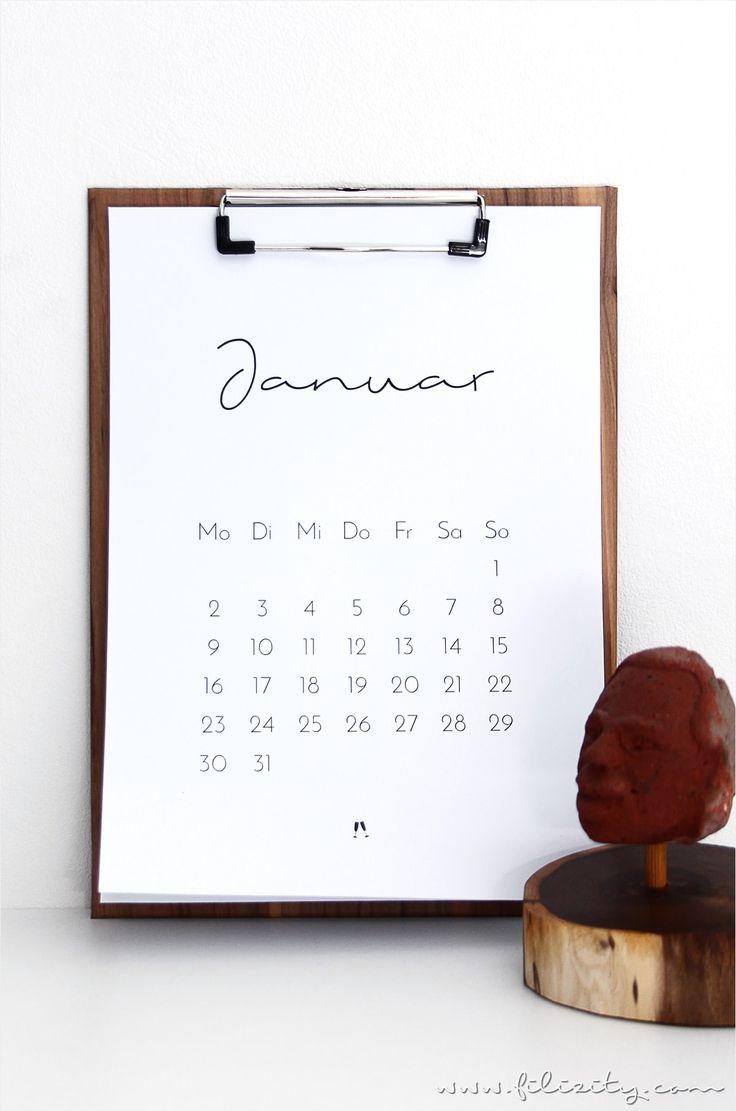 fr mehr plan minimalistischer kalender fr 2017 mit der kostenlosen druckvorlage habt ihr ein