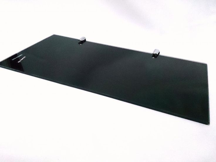simple black glass shelf - Glass Shelf Brackets