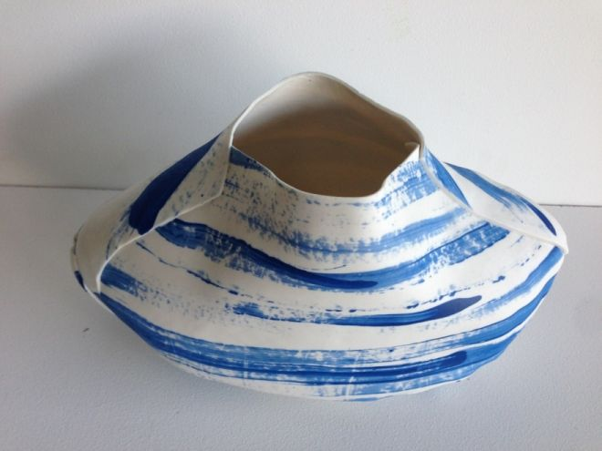 Lisa Firer designs, Cape Town: fabric like Soft Pots which are hand-formed and lightly joined together.