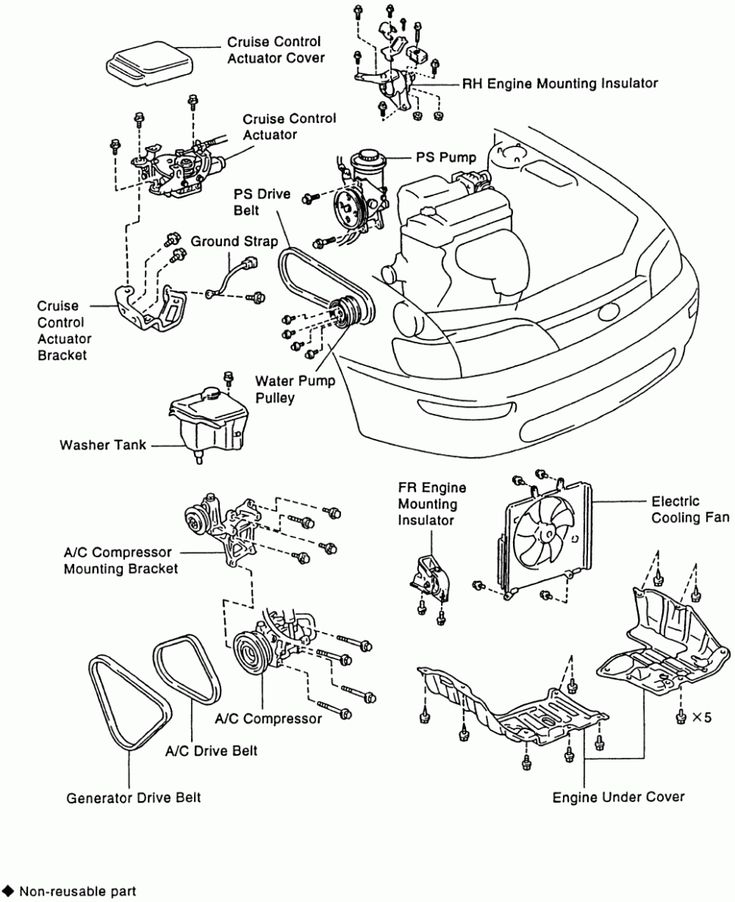 5 Toyota Corolla Engine Parts Diagram 5 Toyota Corolla Engine Parts Diagram