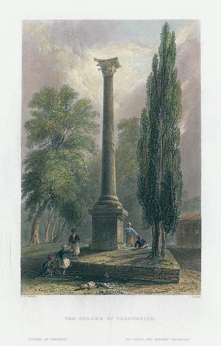 Turkey, Column of Theodosius, 1838