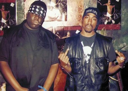 thugged out, jus listen 2 their music. tons of words of wisdom & wut was goin on at the time and how it relates to todays world <3 RIP b.i.g & pac
