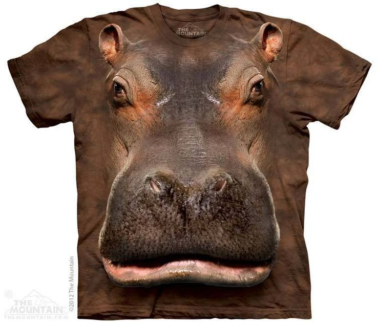 Hippo Head T-Shirt