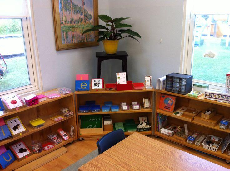Montessori Classroom Design Ideas ~ Best images about montessori shelves language on