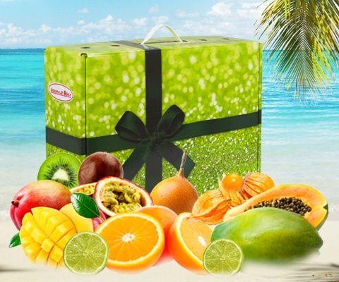 Obstbox EXOTICA: Die Exoten unter den Früchten sind in dieser schmackhaften Kombination vereint: sonnengereifte Riesenpapaya, faserfreie Mango und Passionsfrucht bilden den exotischen Rahmen für garantiert sonniges Urlaubsfeeling in Deutschland. Schmecke den Sommer - schließe die Augen und lass dich geschmacklich unter tropische Palmen entführen.