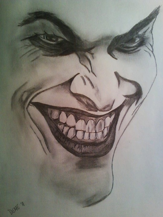 Joker Art Drawing