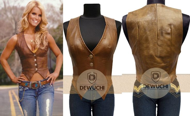 """Inspired from Hollywood Famous TV-Series The Dukes of Hazzard. Dewuchi.com Now Created The Dukes of Hazzard Daisy Duke Leather Vest for Girls. """"Catherine Bach"""" Worn This Vest in TV-Series as a Daisy Duke. Our Designers Team have Accomplished This Valuable Real Leather Vest for Our Online Customer in Reasonable Price. #catherinebach #thedukesofhazzard #daisyduke #tvseries #girlsfashion #girlscollection #womenfashion #gorgeous #younggirls #love #happy #clothing #dress #pretty #queen #party"""