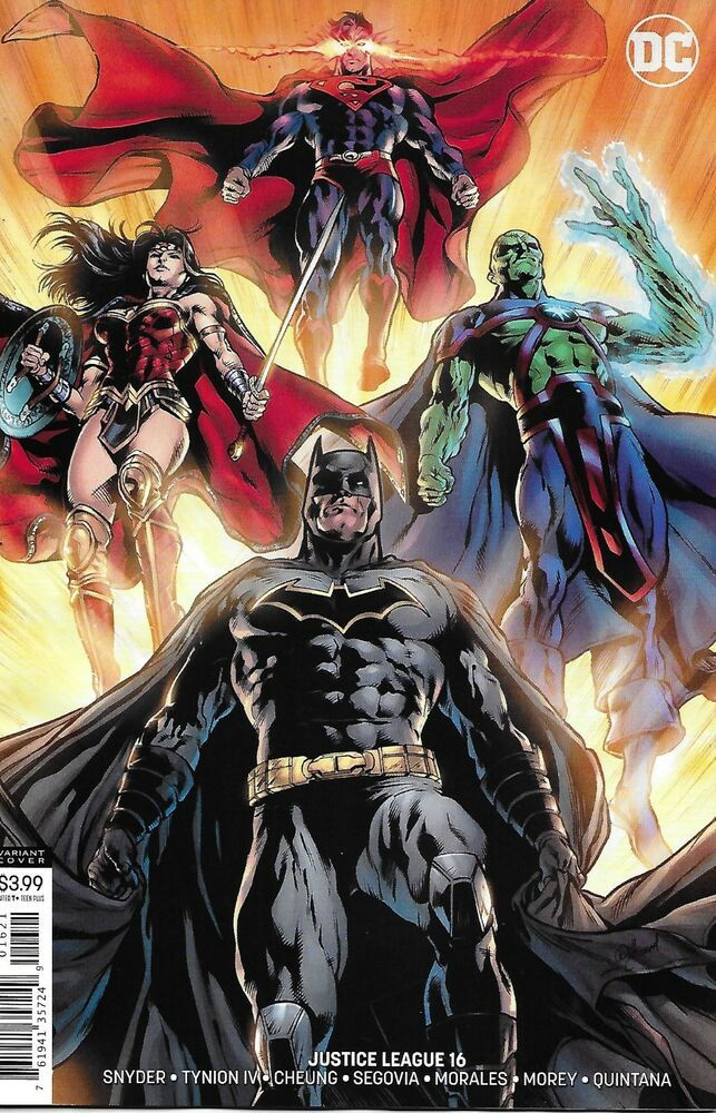 Justice League Comic Issue 16 Limited Variant Modern Age First