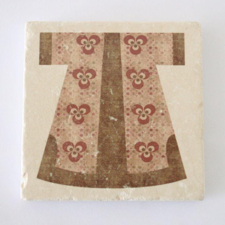 Cintemani Kaftan Design Stone Coaster