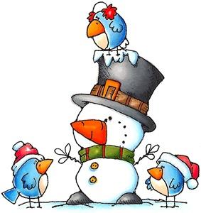 *SNOWMAN ~ with birdie friends