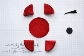 Diary of Two Crafty Girls: Rememberance Day Poppy {Tutorial}