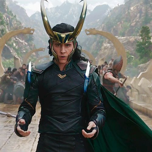 Tom Hiddleston as Loki in Thor: Ragnarok!!!!! OMG!!!! Video: https://www.youtube.com/watch?v=v7MGUNV8MxU--AHHHHHH