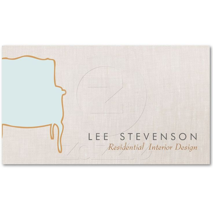 Interior Design Business Card from Zazzle.com