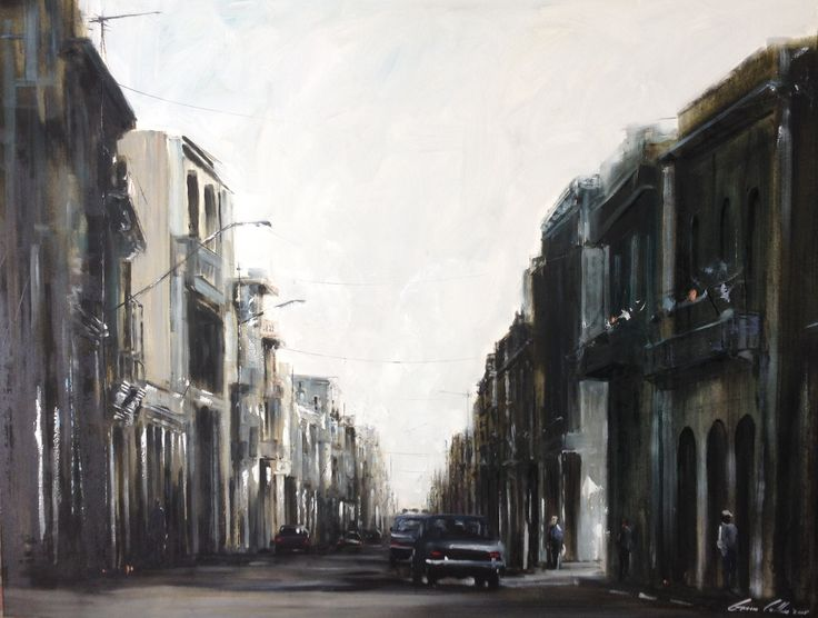 "Gavin Collins Paintings Title: ""Lighter & Darker Shades of Cuba"" Size: 2m x 1,5m"