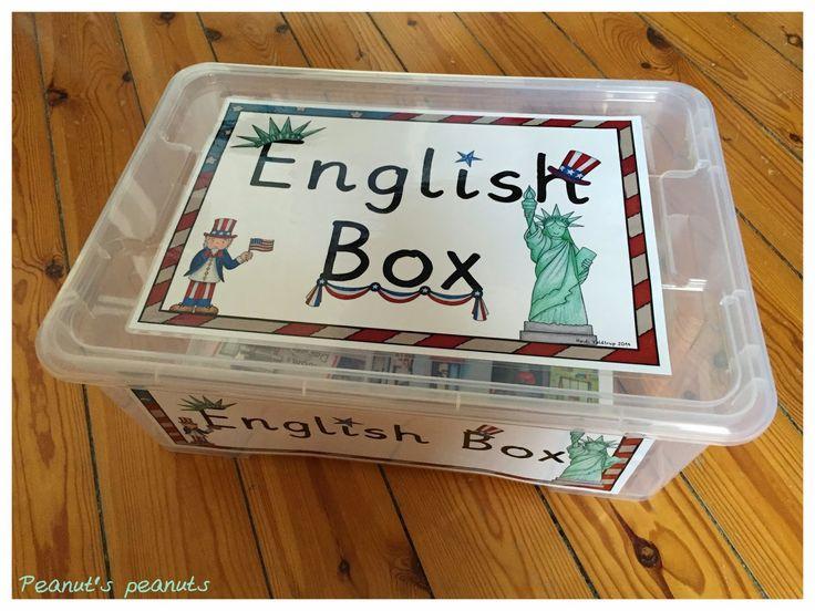 Peanut's peanuts: English Box - Eine Englischbox für Differenzierungsmaterial; mit Images von Kate Hadfield (http://katehadfielddesigns.com)