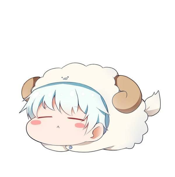 Gintoki costume sheep xD kawaii ≧▽≦
