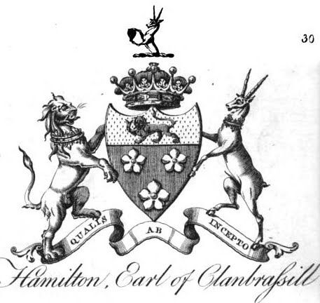 Armorial bearings of Hamilton, Earl of Clanbrassil (I 1647).