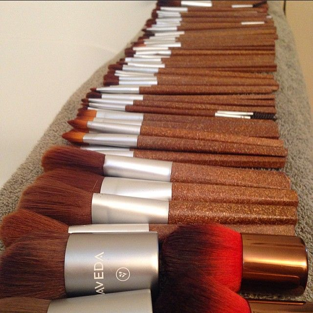 Aveda Makeup Brushes: flax sticks.