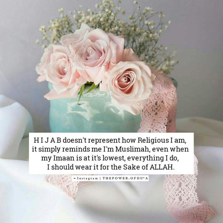 Muslimahs wear hijab for the sake of ALLAH