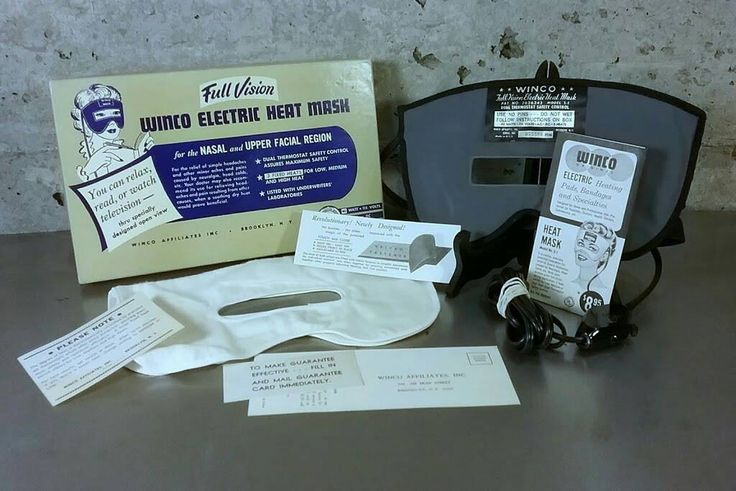 Vintage mcm 1950s full vision electric heat mask by winco