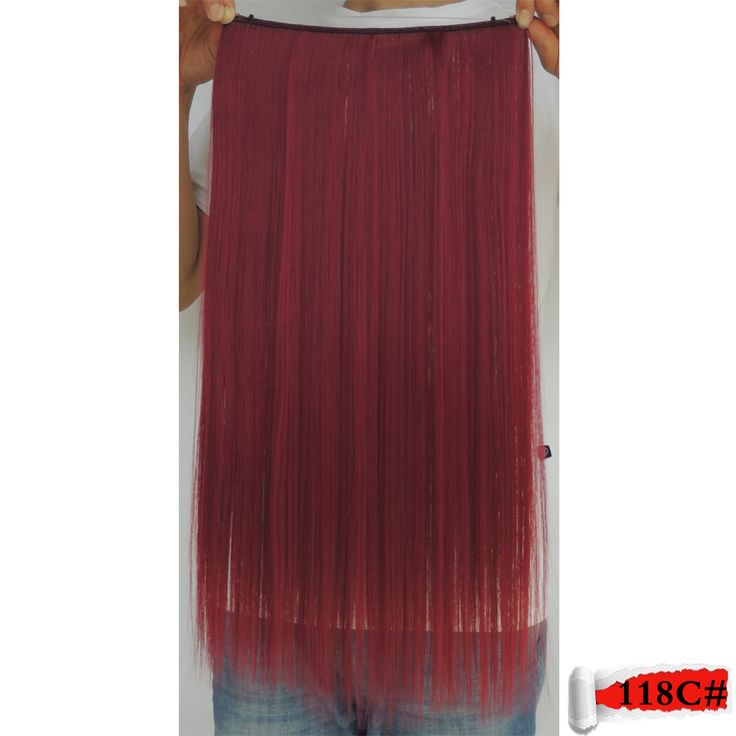 hair extensions mega aplique de cabelo sintetico in fiber false shinion red synthetic 23inch80g currant crazy color 118c