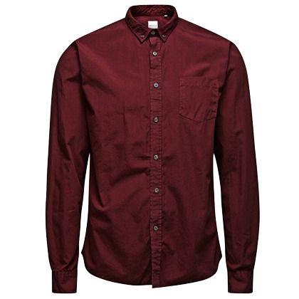 Rotes #Hemd mit Brusttasche, ein lockerer #Businesslook! ab 39,95€ Hier kaufen: http://stylefru.it/s236702 #businessoutfit #rot