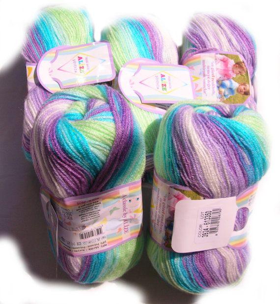 Baby yarn Batik design yarn baby friendly by HandyFamily on Etsy, €4.40