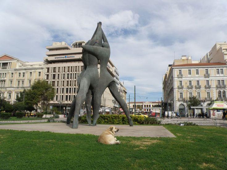 urban travel tales, Athens, city center 2013, Πλατεία Κλαυθμώνος