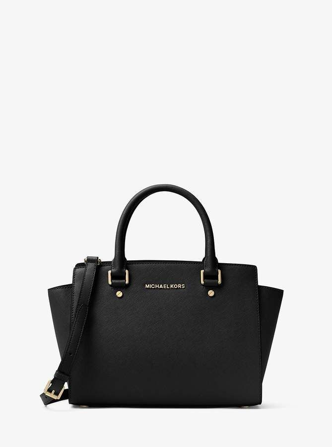 Selma Saffiano Leather Medium Satchel | Michael Kors MICHAEL