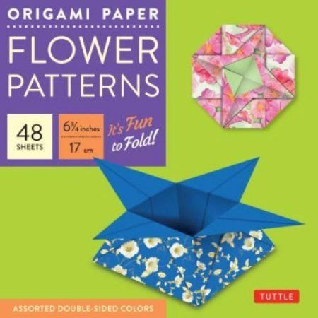 Origami Paper Flower Patterns, 48 Sheets