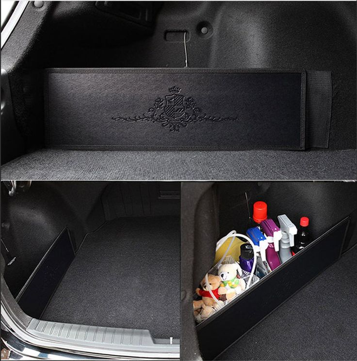 Car Trunk Side Organizer Storage Backseat Slim Side Pocket New Korea Black #KMMotors