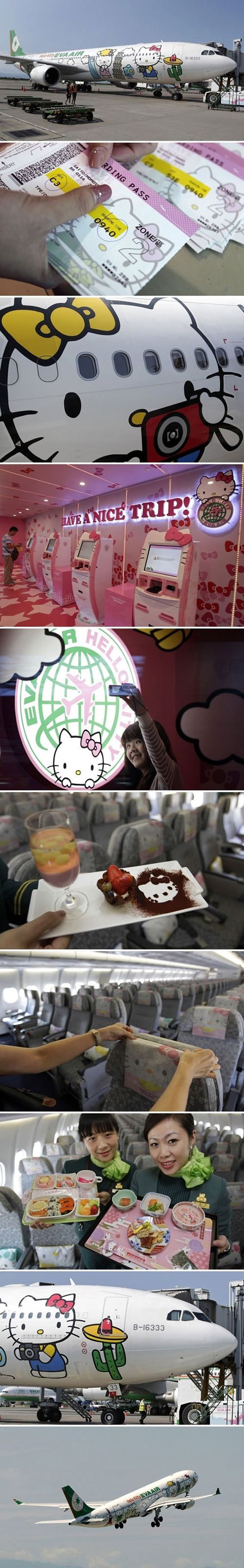 Sadly my best friend doesn't have a pinterest so she won't see this til I show it to her.  Anyway this is the flight for me and her because we both are such little kids when it comes to certain things. Hello Kitty Love <3