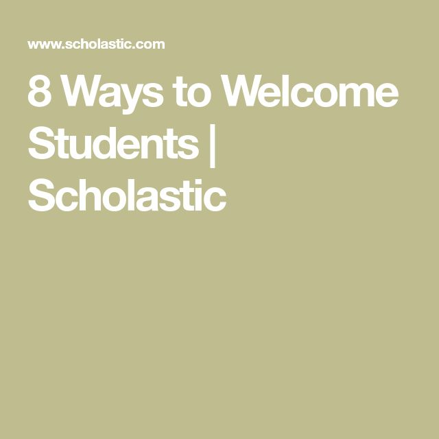8 Ways to Welcome Students | Scholastic