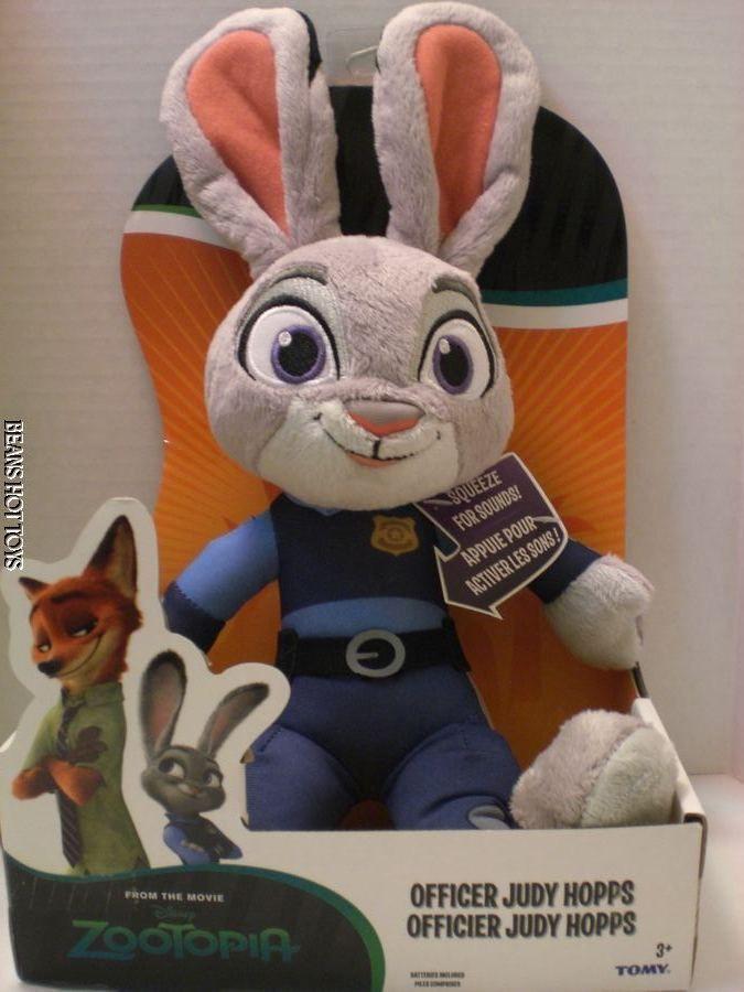 Disney Zootopia Movie Toy Talking Plush, Officer Judy Hopps  NEW #TOMY