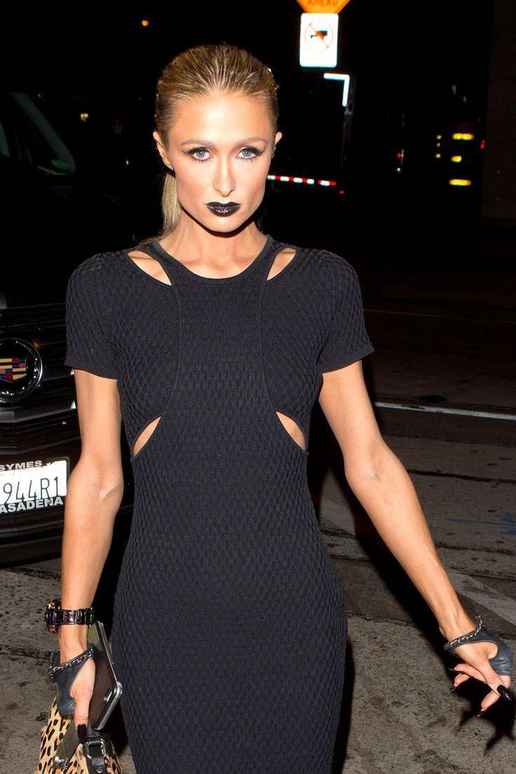 Paris Hilton Makes an Elegant Goth | Couture-Runway CIRCA ...