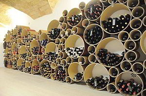 Amazing way to display stock...architectural and interesting...