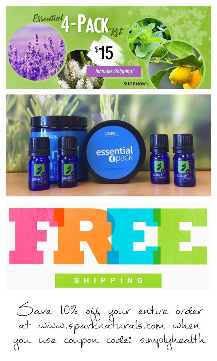 Whether you are NEW to Essential Oils, or have used them for years, this week's special is for YOU! Our 5 ml Essential 4-Pack Kit with Lavender, Lemon, Melaleuca, and Peppermint is only $15!!! And...FREE SHIPPING! $15 to get quality, pure essential oils into your home is a GREAT DEAL!!! Sale runs until April 9, 2017. Save an additional 10% off your entire order (making the kit just $13.50) when you use coupon code: simplyhealth
