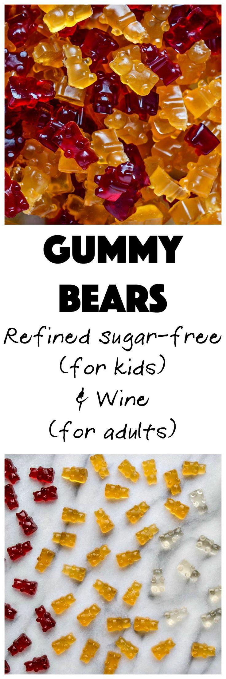 Gummy Bears   My Kitchen Love. Kid-loving, refined sugar-free treat! #candy #gummybears #sugarfree