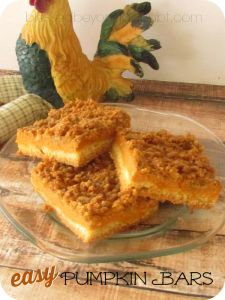 recipe for pumpkin bars