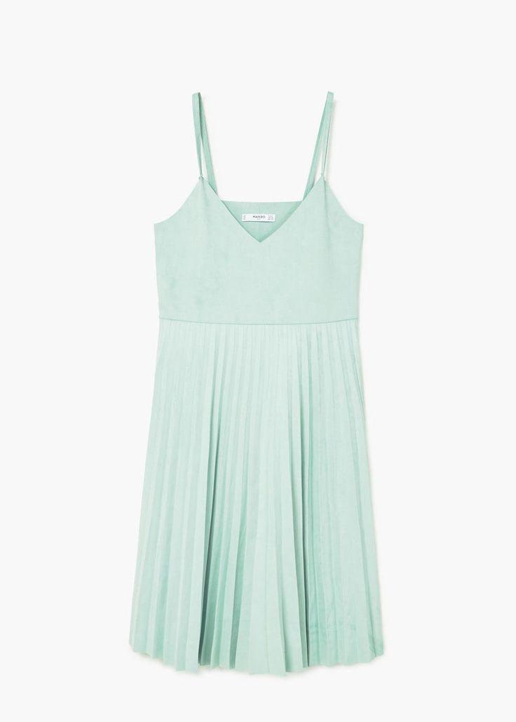 Плиссированное платье | MANGO МАНГО