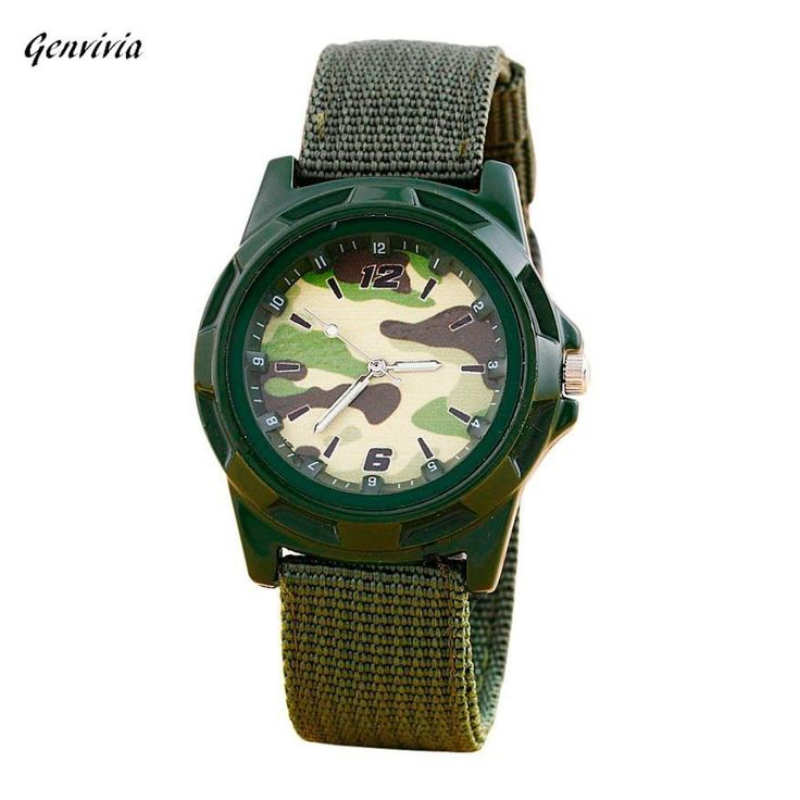 Genvivia Fashionarmy watches man sports watch special offer brown band shock resistant quartz watch for men watches online store